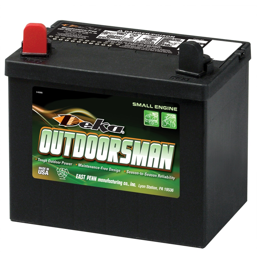 deka 12 volt 410 amp mower battery at. Black Bedroom Furniture Sets. Home Design Ideas
