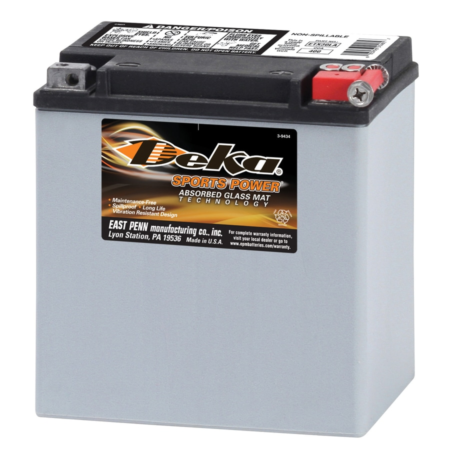 12 Volt Battery : Shop deka volt motorcycle battery at lowes