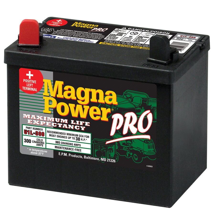 Magna 12 Volt 365 Amp Lawn Mower Battery