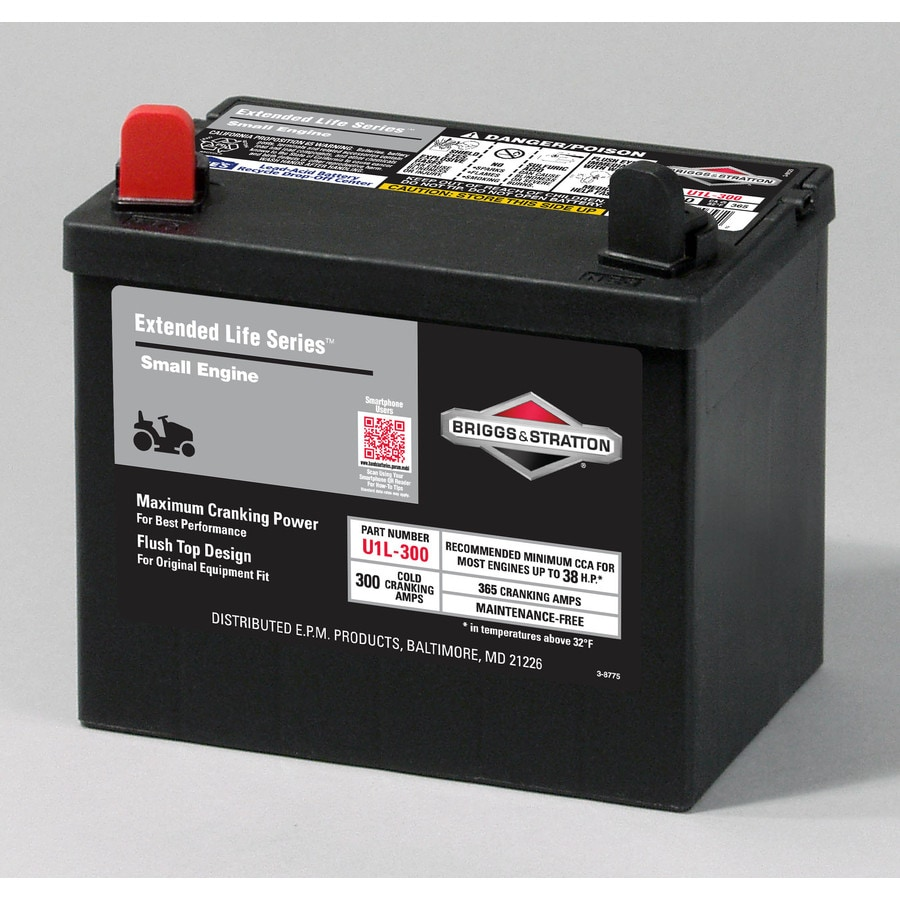 Briggs Stratton 12 Volt 365 Amp Lawn Mower Battery
