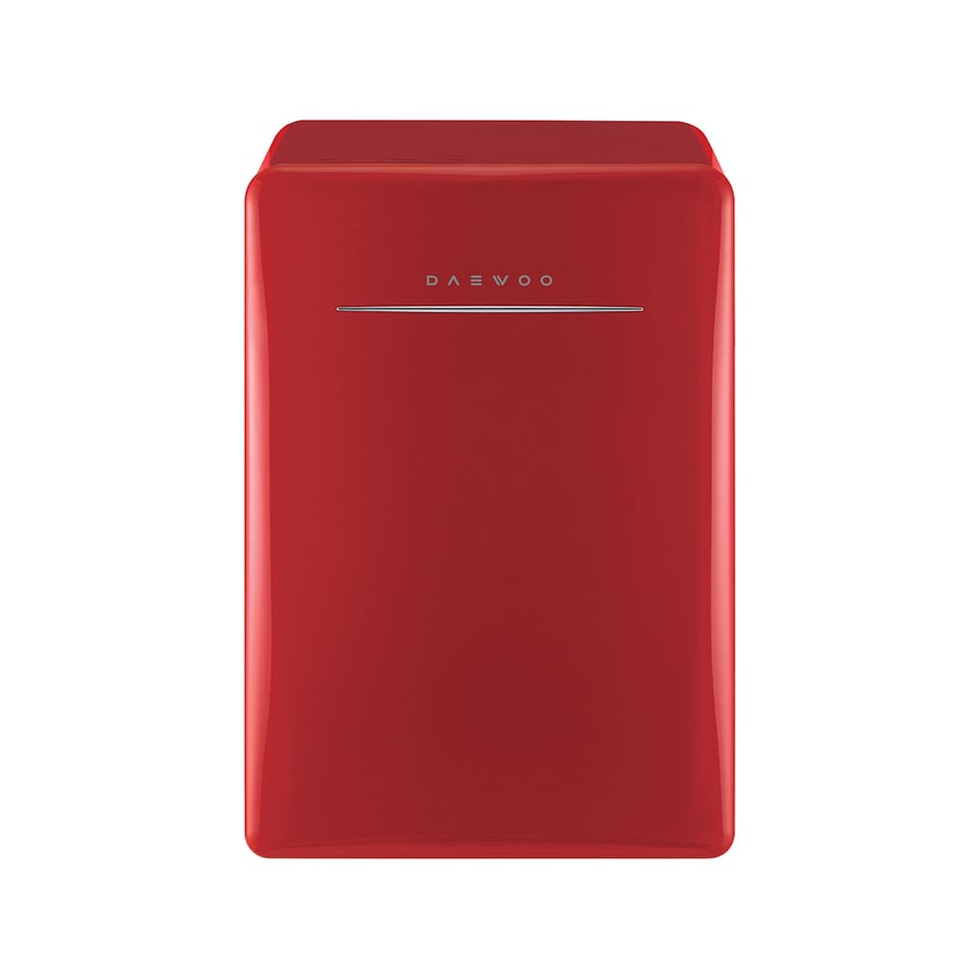 Daewoo Retro 2.8-cu ft Freestanding Compact Refrigerator Freezer Compartment (Pure Red)