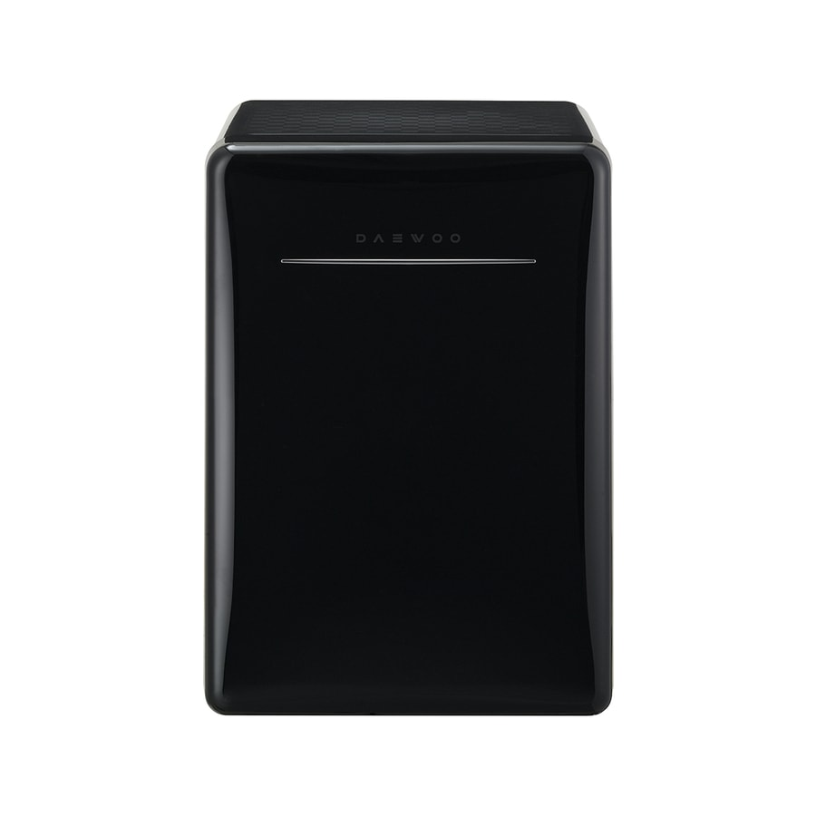 Daewoo Retro 2.8-cu ft Freestanding Compact Refrigerator (Piano Black)
