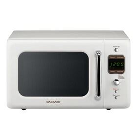 Daewoo Retro 0.7-cu ft 700-Watt Countertop Microwave (Cream White)