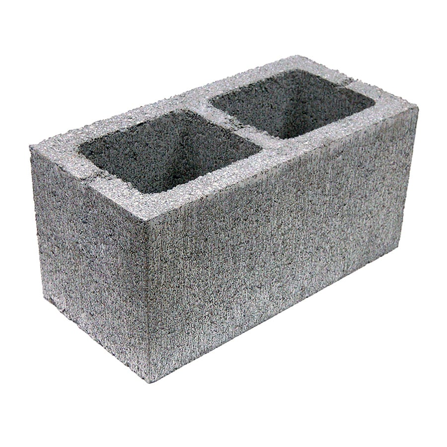 Lightweight Concrete Block (Common: 16-in x 8-in x 8-in; Actual: 15.625-in x 7.625-in x 7.625-in)