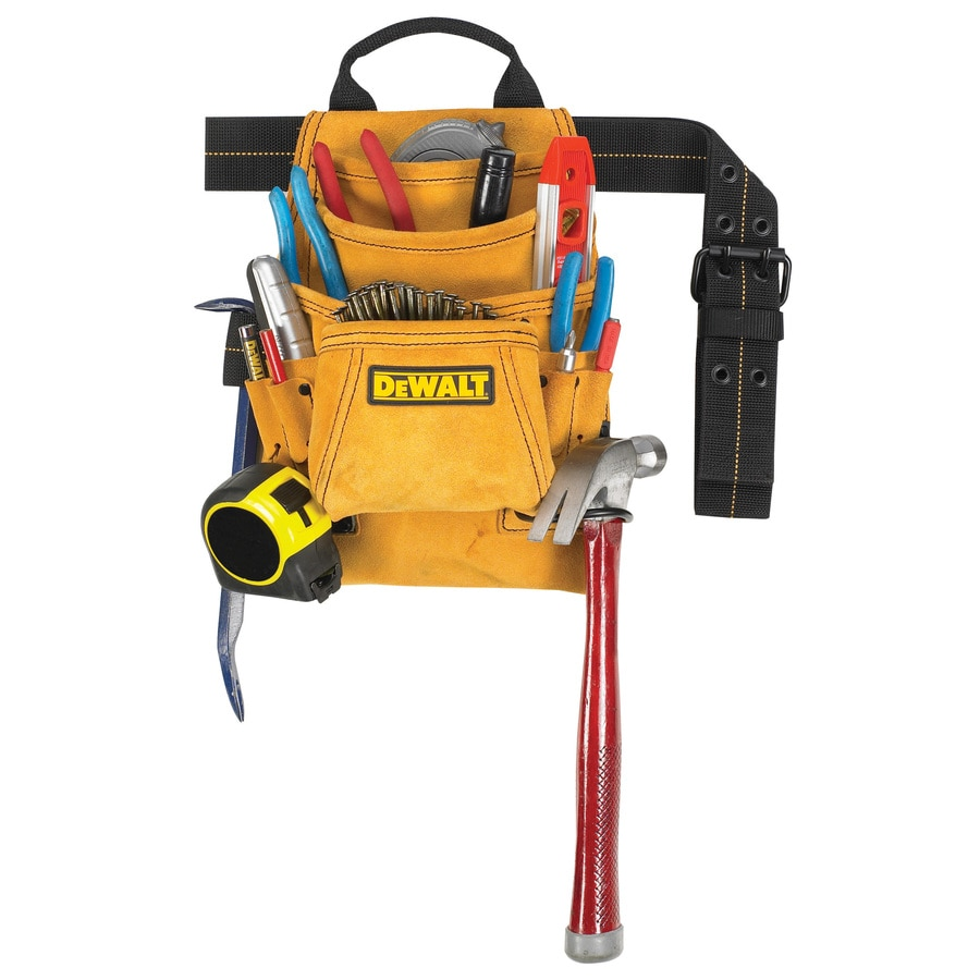 Shop Dewalt General Construction Leather Tool Apron At