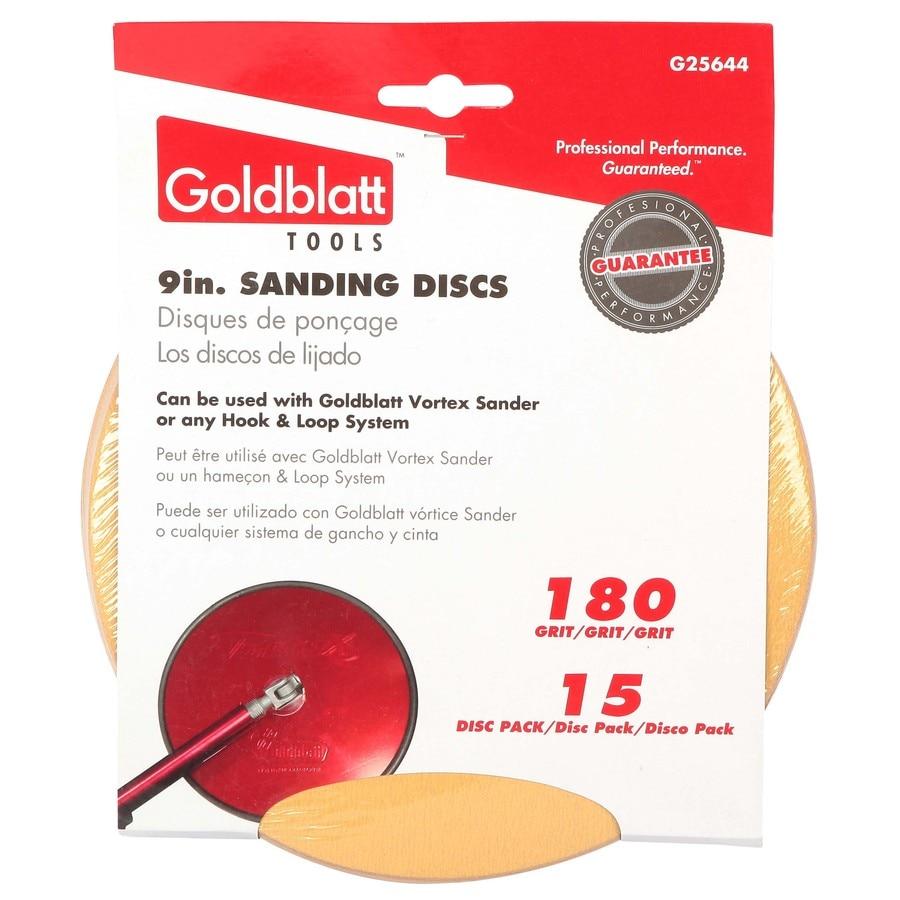GOLDBLATT 15-Pack 180-Grit 9-in W x 9-in L Drywall Sandpaper