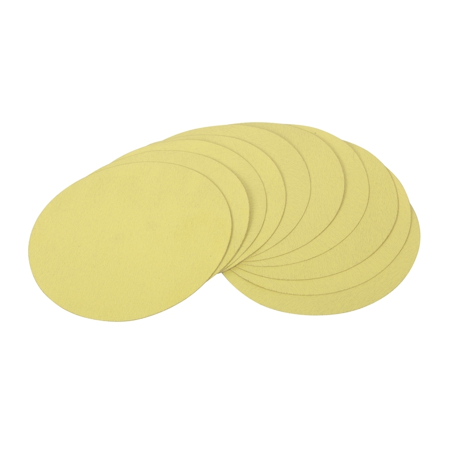 GOLDBLATT 10-Pack 9-in W x 9-in L 100-Grit Commercial Round Hook and Loop Sandpaper