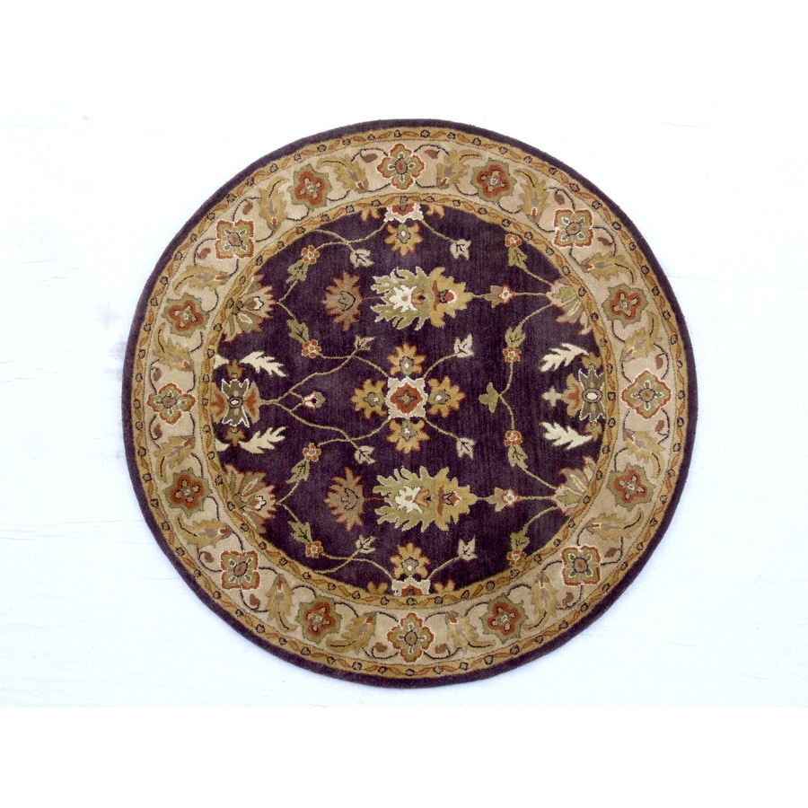 Dynamic Rugs Charisma Brown Round Indoor Handcrafted Area