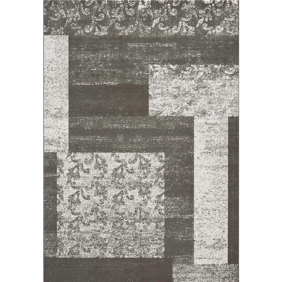 DYNAMIC RUGS Mysterio Gray Rectangular Indoor Machine-made Throw Rug (Common: 2 x 4; Actual: 2-ft W x 4-ft L)