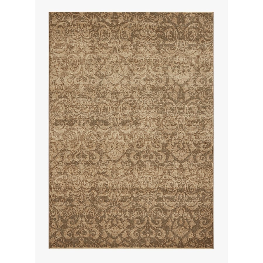 DYNAMIC RUGS Mysterio Brown Rectangular Indoor Machine-Made Throw Rug (Common: 2 x 4; Actual: 2-ft W x 4-ft L)