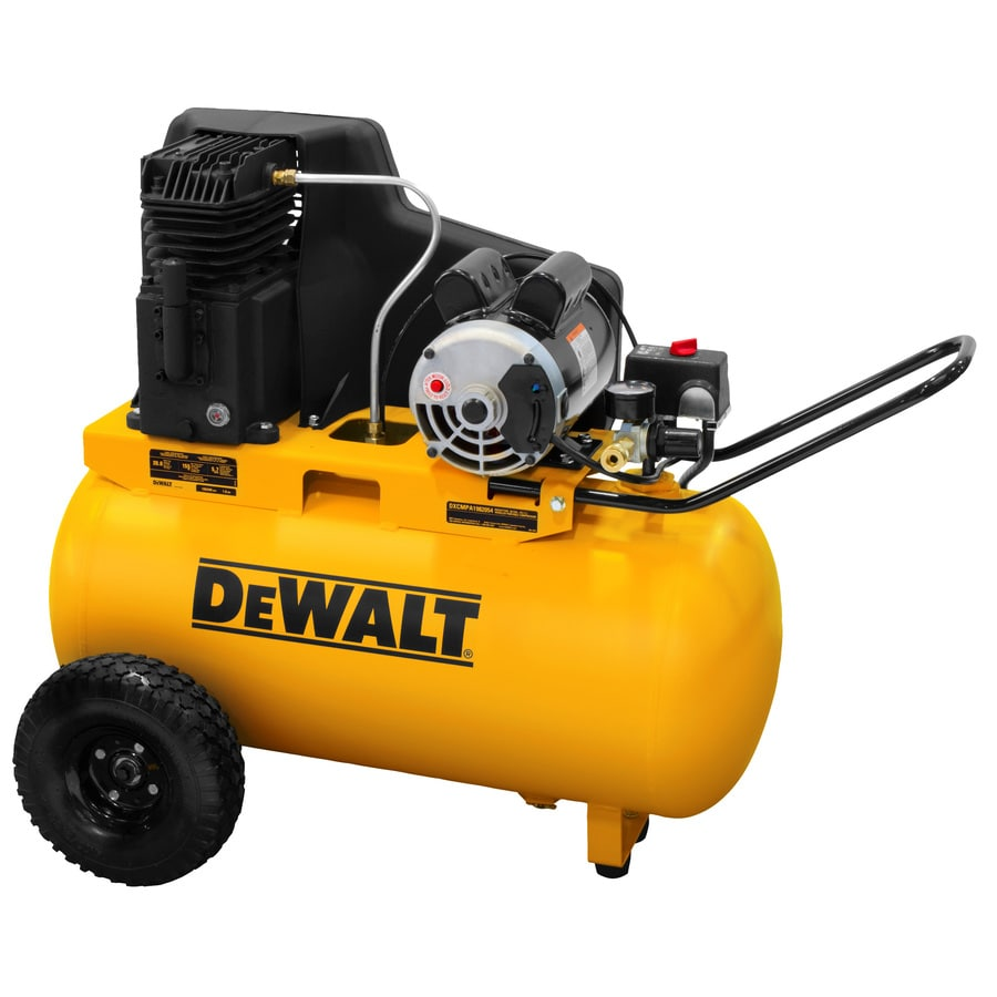 DEWALT 20-Gallon Portable Electric Horizontal Air Compressor