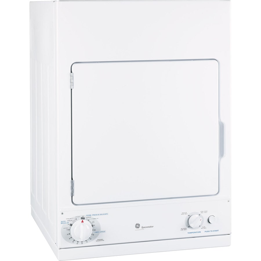 GE 3.6-cu ft Stackable Electric Dryer (White)