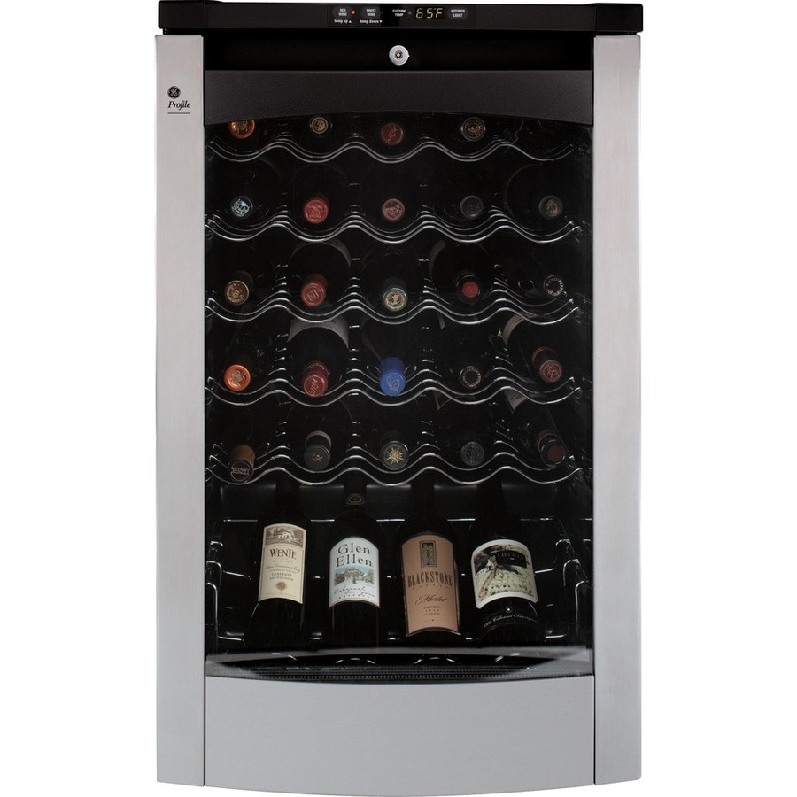 GE Profile 29-Bottle Stainless Steel Wine Chiller