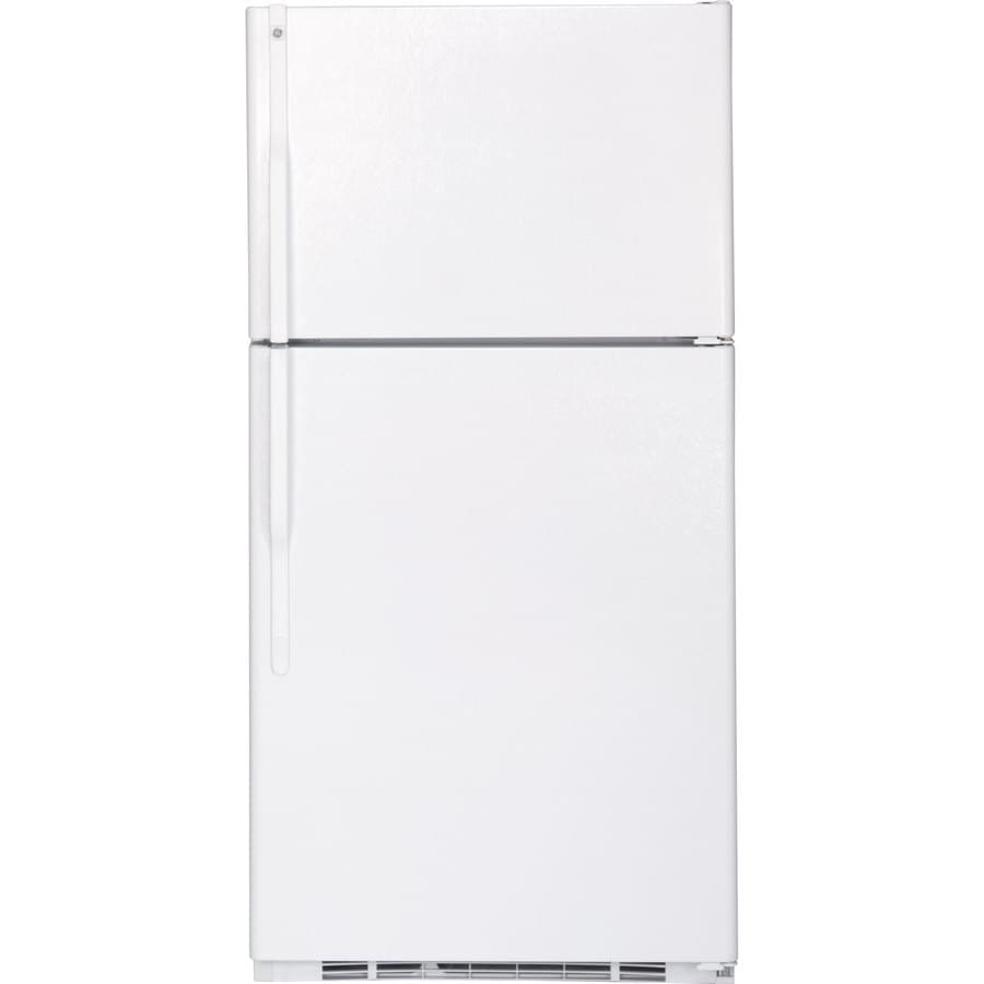 GE 21.7-cu ft Top-Freezer Refrigerator (White)
