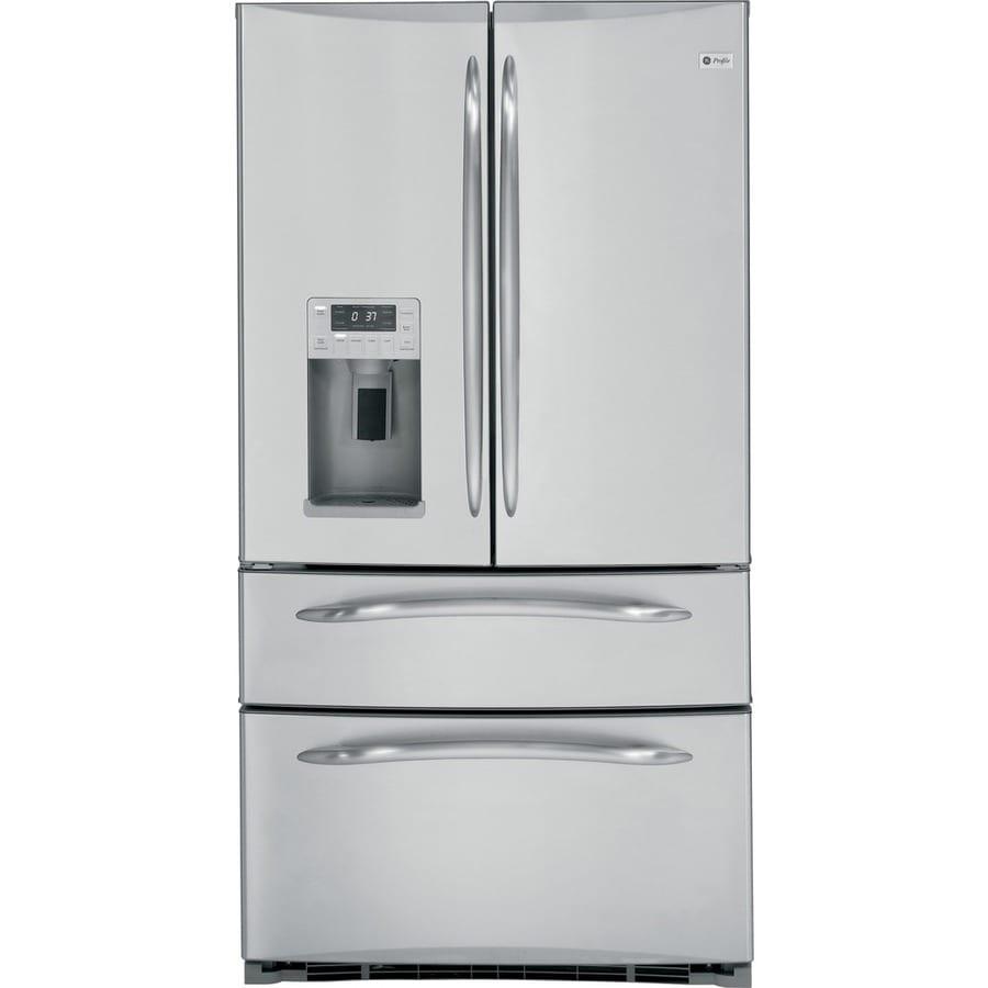 Shop Ge Profile 207 Cu Ft French Door Counter Depth Refrigerator
