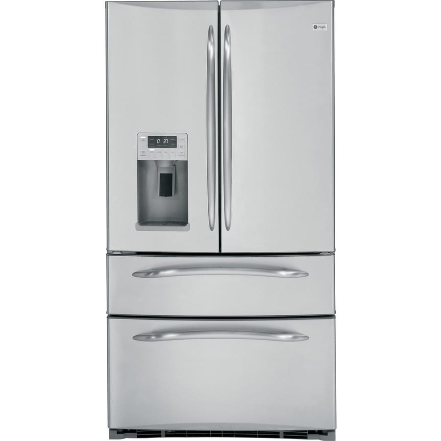 Shop Ge Profile 248 Cu Ft 4 French Door Refrigerator Stainless