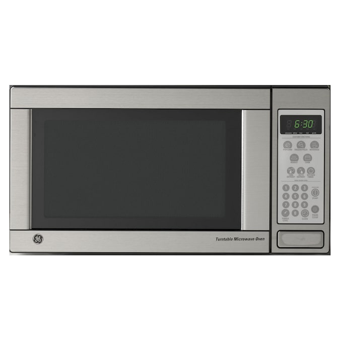 Ge 1 1 Cu Ft Countertop Microwave Color Stainless Steel At
