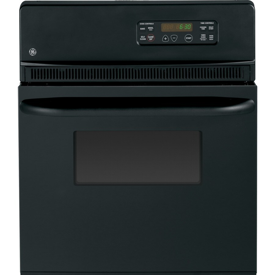 GE Self-Cleaning Single Electric Wall Oven (Black on Black) (Common: 24-in; Actual 23.75-in)