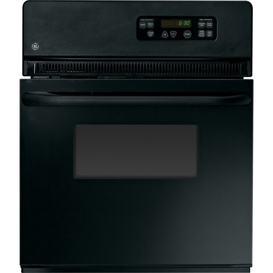 Shop Ge Single Electric Wall Oven Black Common 24 In