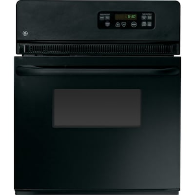 Single Electric Wall Oven Black Common 24 Inch Actual 23 75 In