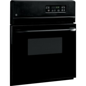 Ge Single Electric Wall Oven Black Common 24 In Actual