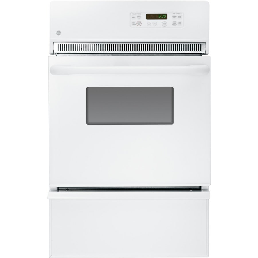 GE 24 In Self Cleaning Single Gas Wall Oven (White)