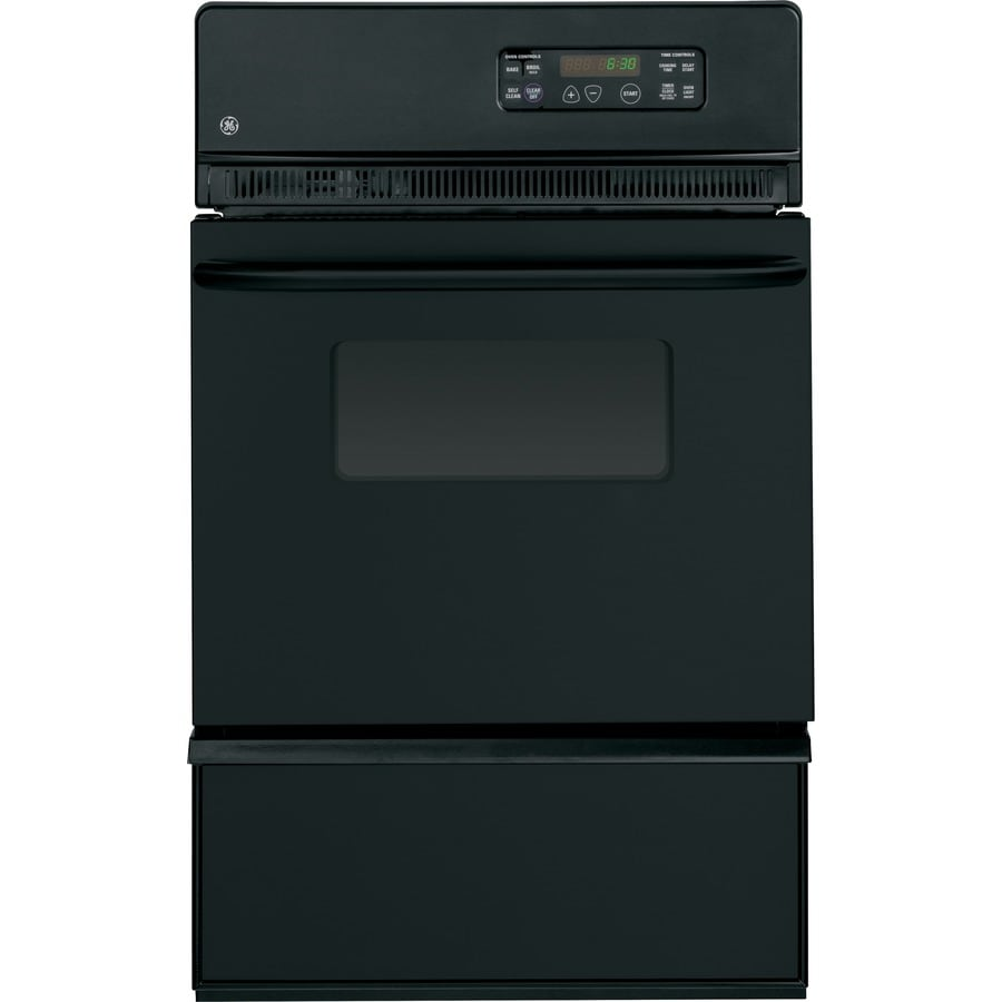 GE Self-Cleaning Single Gas Wall Oven (Black)