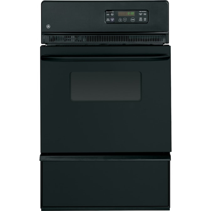 Ge 24 In Self Cleaning Single Gas Wall Oven Black In The Gas Wall Ovens Department At Lowes Com
