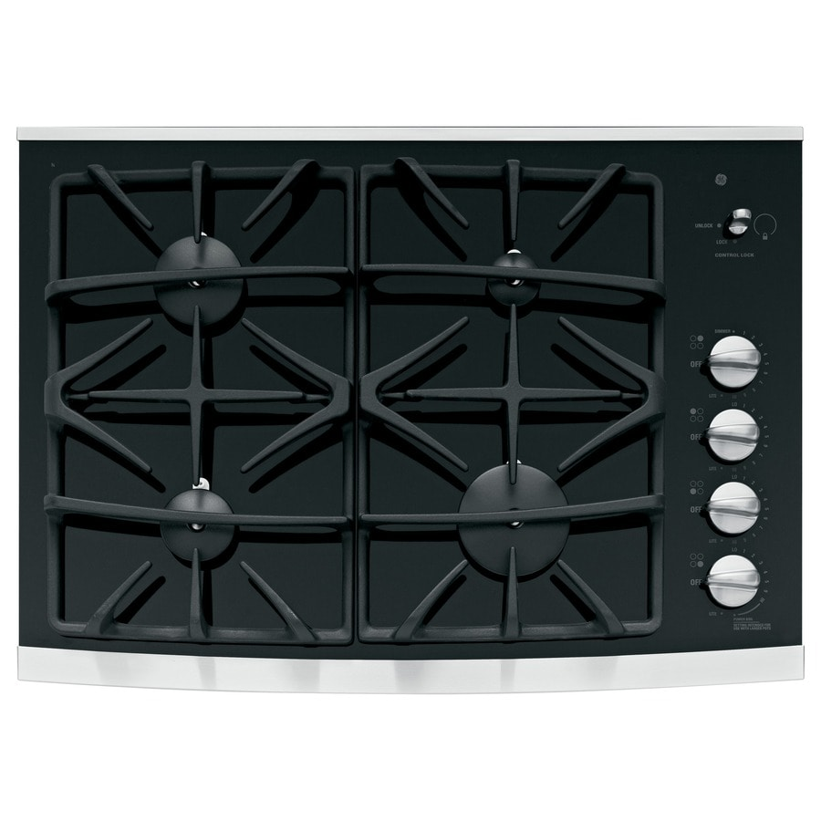 GE Profile Gas Cooktop (Stainless Steel) (Common: 30-in; Actual: 29.75-in)