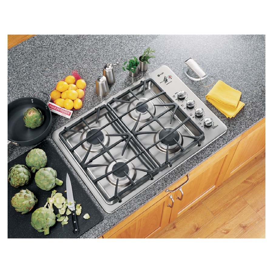 GE Profile 30 Inch 4 Burner Gas Cooktop (Color: Stainless Steel)
