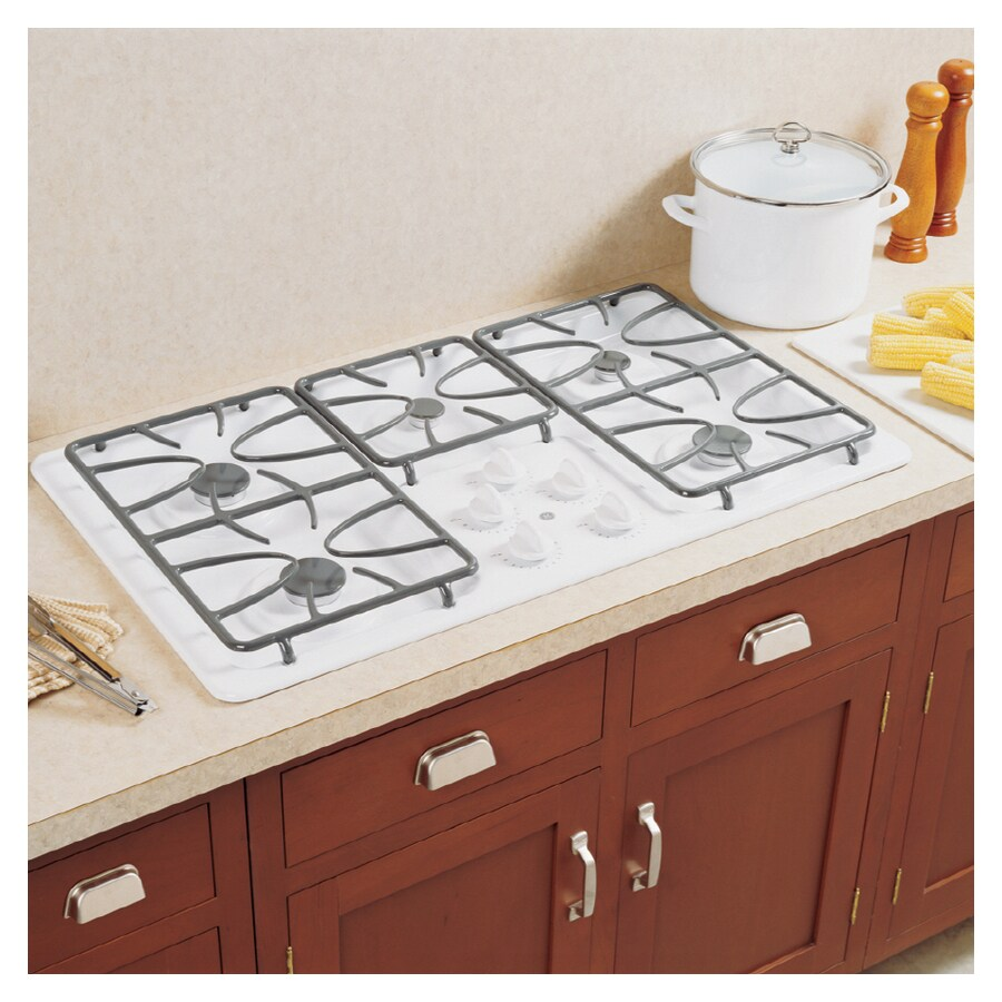 Lowes cooktops 36 inch - Ge 36 Inch 5 Burner Gas Cooktop Color White