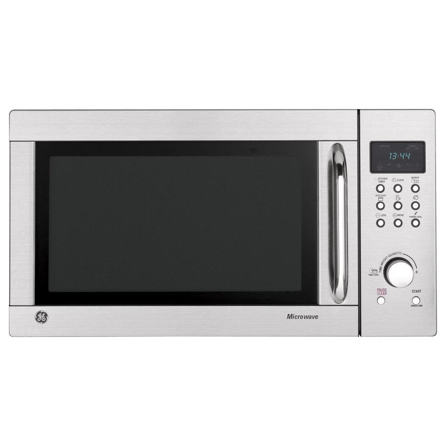 Ge 1 3 Cu Ft 1000 Watt Countertop Microwave Stainless Steel