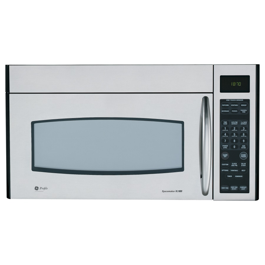 Ge Profile 1 8 Cu Ft Over The Range Microwave With Sensor Cooking Controls