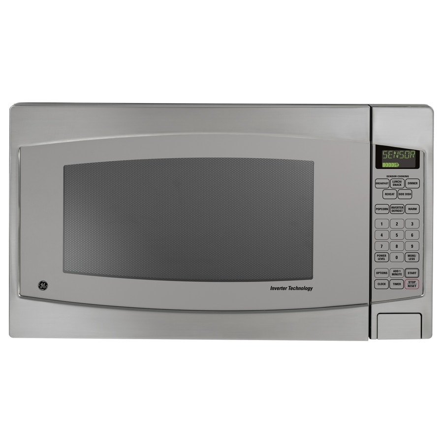 Ge Profile Series 2 Cu Ft 1 200 Watt Countertop Microwave Stainless Steel