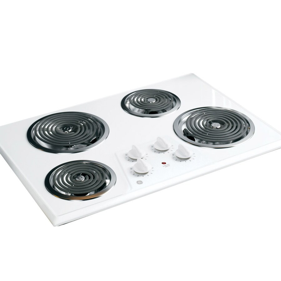 GE Coil Electric Cooktop (White) (Common: 30-in; Actual 30.25-in)