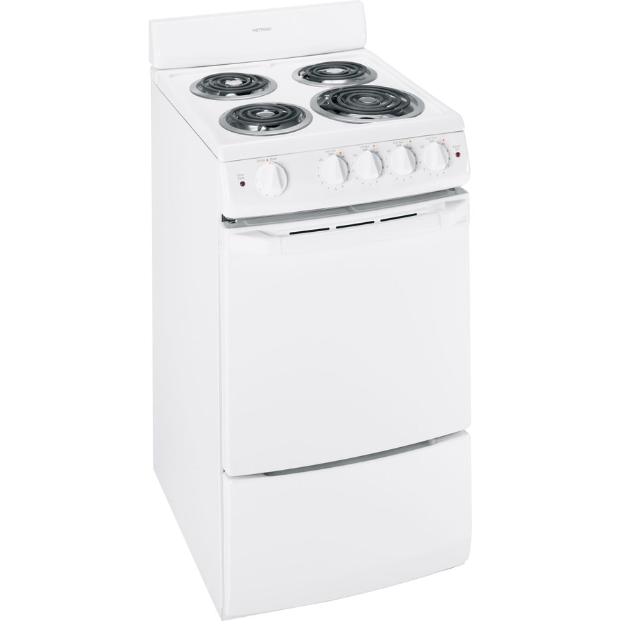 Hotpoint Freestanding 4-Element 2.4-cu ft Electric Range (White) (Common: 20-in; Actual: 20-in)