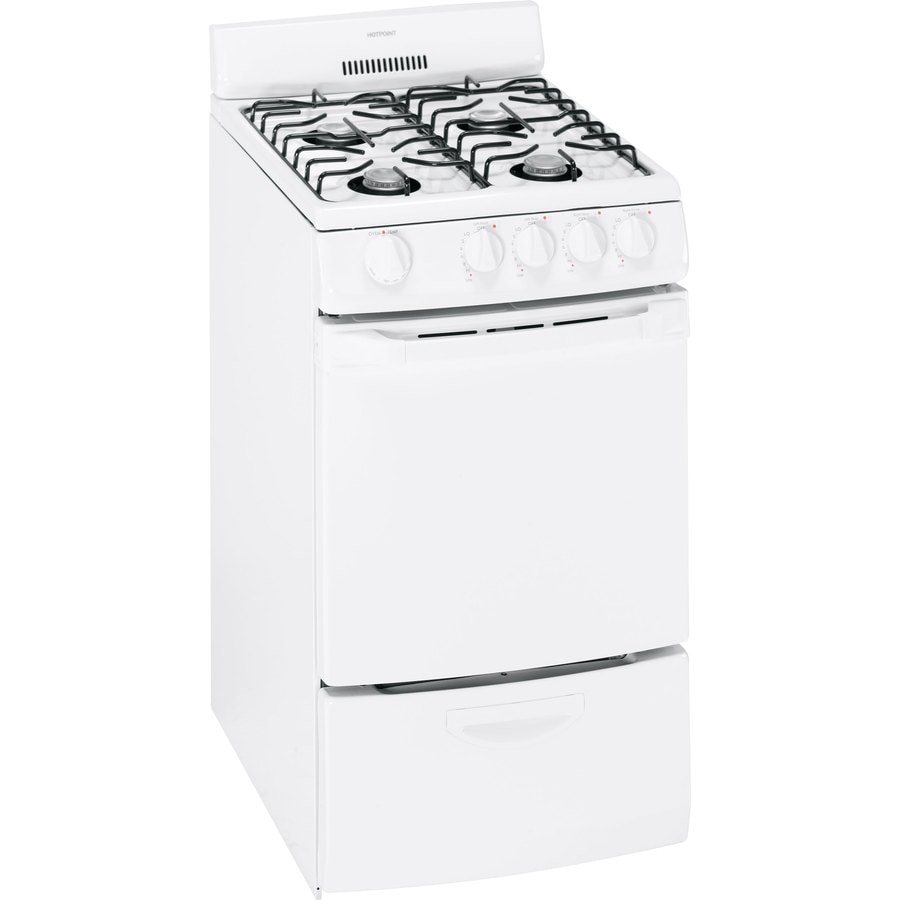 Hotpoint Freestanding 2.4-cu ft Gas Range (White) (Common: 20-in; Actual: 20-in)
