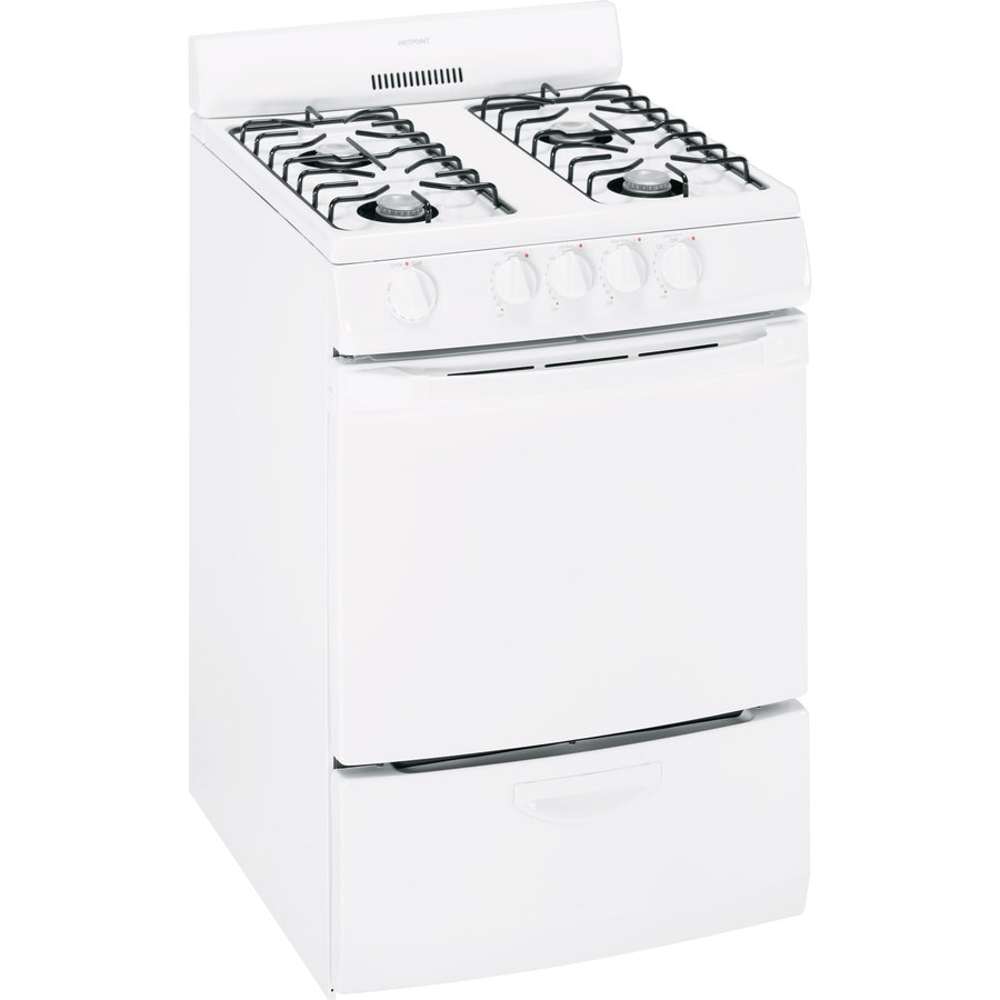 Hotpoint Freestanding 3-cu ft Gas Range (White) (Common: 24-in; Actual: 24-in)