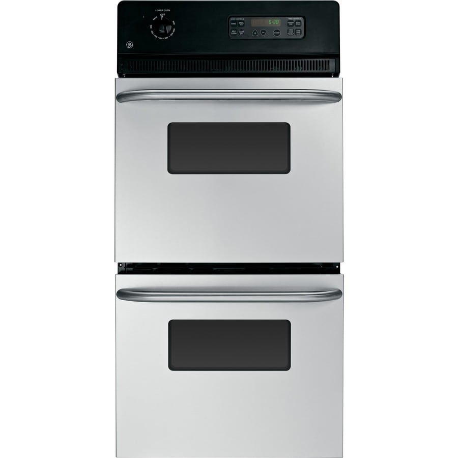 GE Self-cleaning Double Electric Wall Oven (Stainless Steel) (Common
