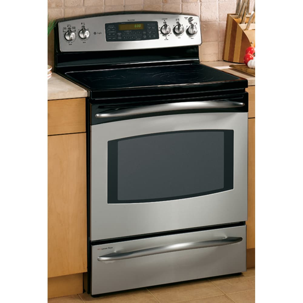 ge profile double oven. GE Profile 30-Inch Double Oven Freestanding Electric Range (Color: Stainless) Ge O