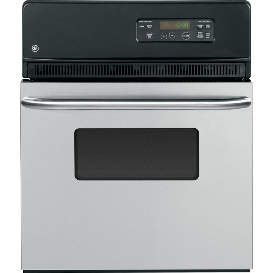 ge single electric wall oven stainless steel common 24in