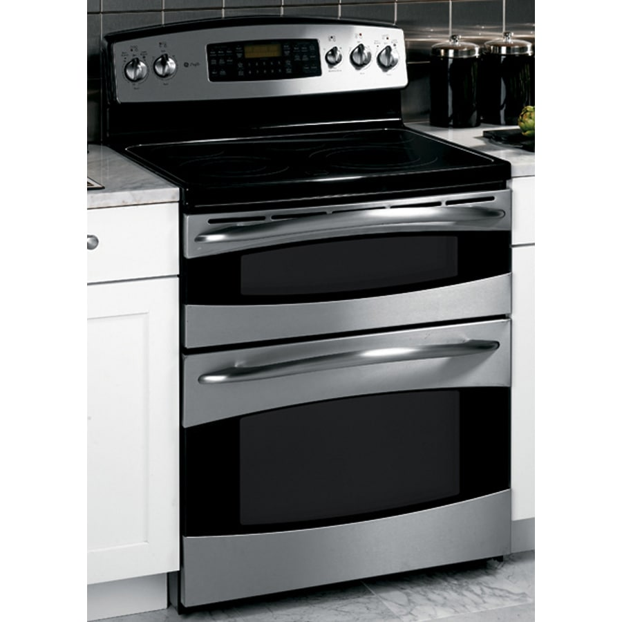 Ge Profile 30 Inch Freestanding Double Oven Electric Range Color Stainless