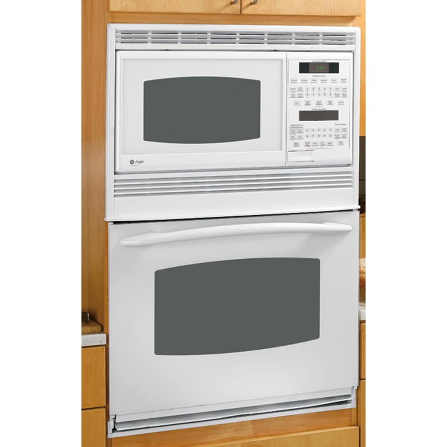 Shop ge profile 30 inch built in double microwave for Built in microwave ovens 30 inch