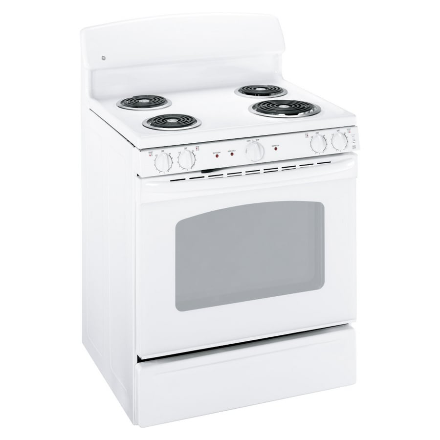 GE 30-in Freestanding 5-cu ft Self-Cleaning Electric Range (White)