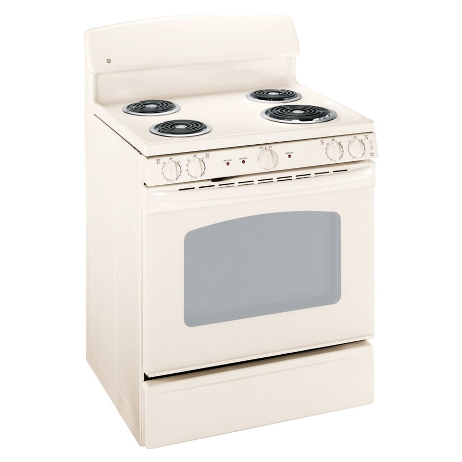 GE 30-in Freestanding 5 cu ft Self-Cleaning Electric Range (Bisque)