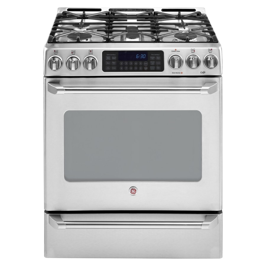 GE Cafe<sup>TM</sup> 30-Inch Free-Standing Gas Range (Color: Stainless)