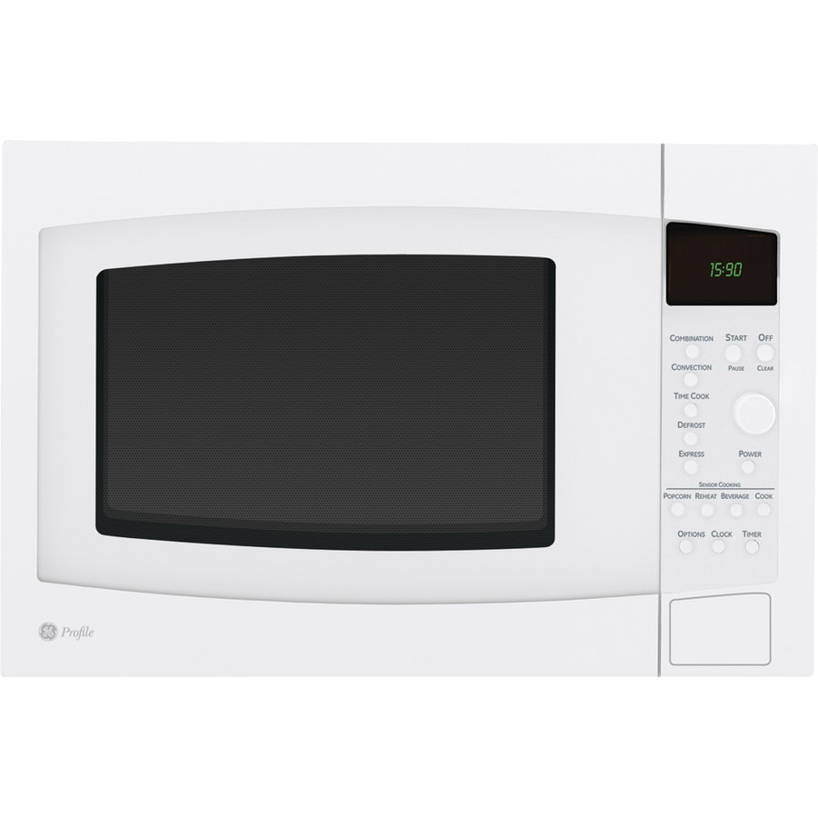 GE Profile 1.5-cu ft 1,000-Watt Countertop Convection Microwave (White)