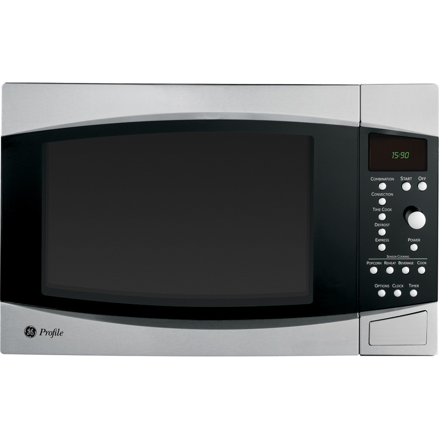 Ge Profile 1 5 Cu Ft 1000 Watt Countertop Convection Microwave Stainless