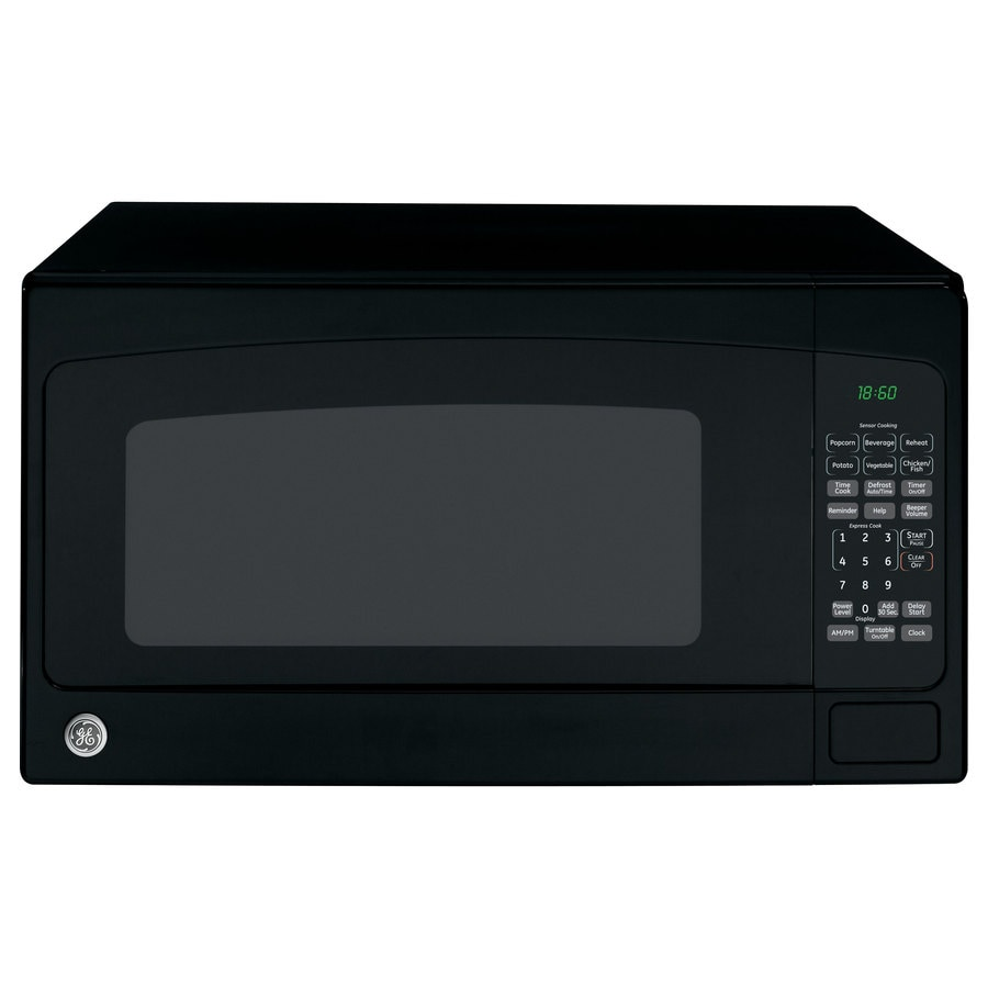 GE 1.8 cu ft 1100-Watt Countertop Microwave (Black)