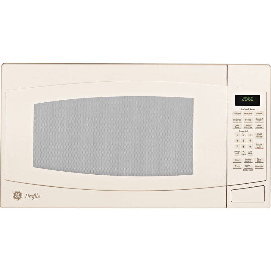 GE Profile 2-cu ft 1500-Watt Countertop Microwave (Bisque)